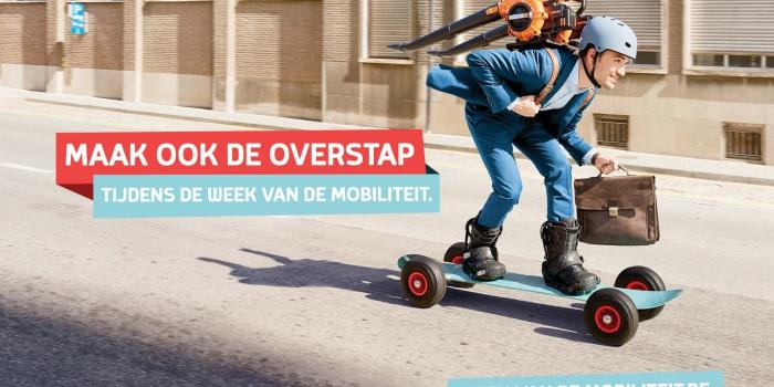Postkaart voor de week van de mobiliteit